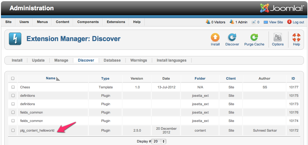 Discover the Plugin